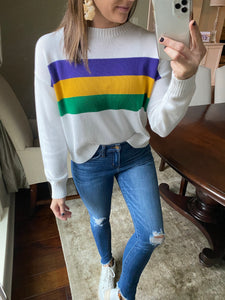 Mardi Gras PGG Sweater