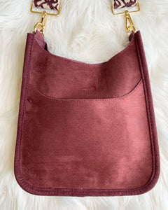 Blake Bag- Small Faux Suede Burgundy