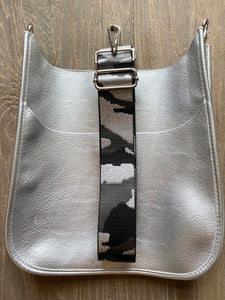 Blake Bag- Vegan Leather/Large Silver
