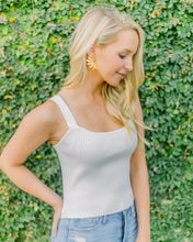 Crystal Knit Top- Ivory