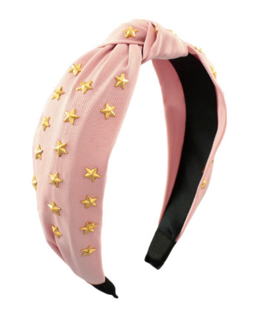 Star Knotted Headband- Blush