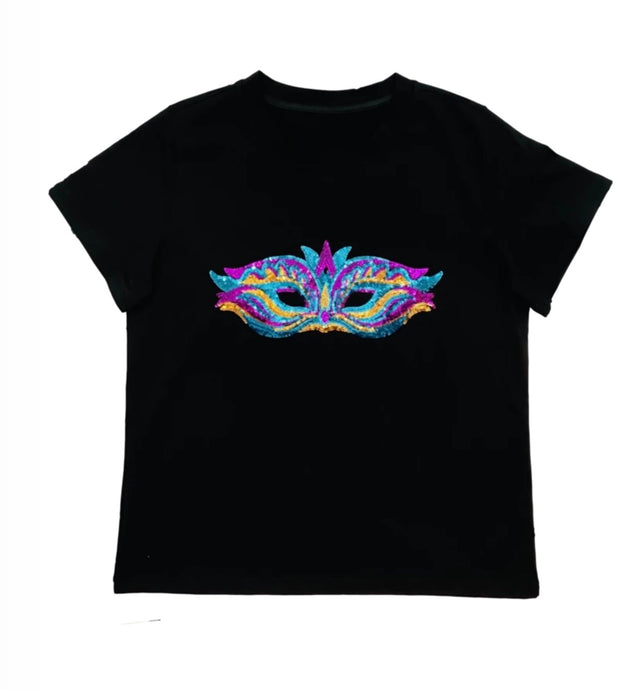 Mardi Gras Mask Up Tee