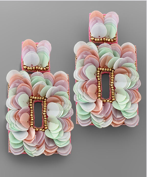Pretty Petal Earrings-Pastel/Multi