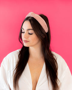 Satin Knot Headband- Pink