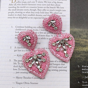 Double Pink Heart Earrings