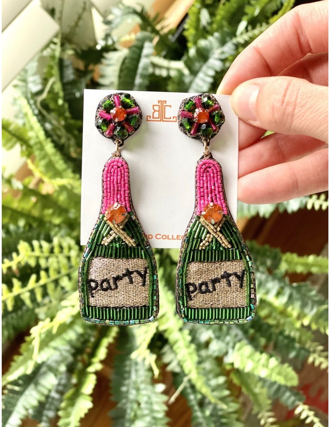 Champs Earrings- Party Bottles
