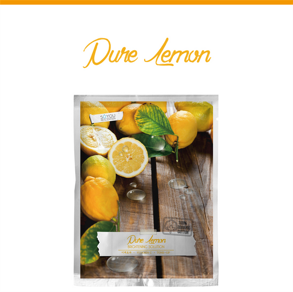 Pure Lemon Organic Cotton Sheet Mask