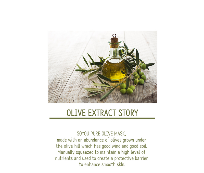 SALE/ Pure Olive Organic Cotton Sheet Mask