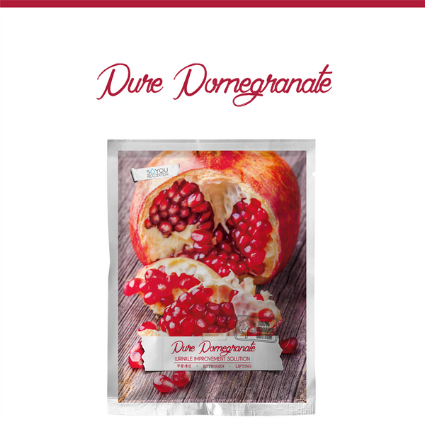 SALE/ Pure Pomegranate Organic Cotton Sheet Mask