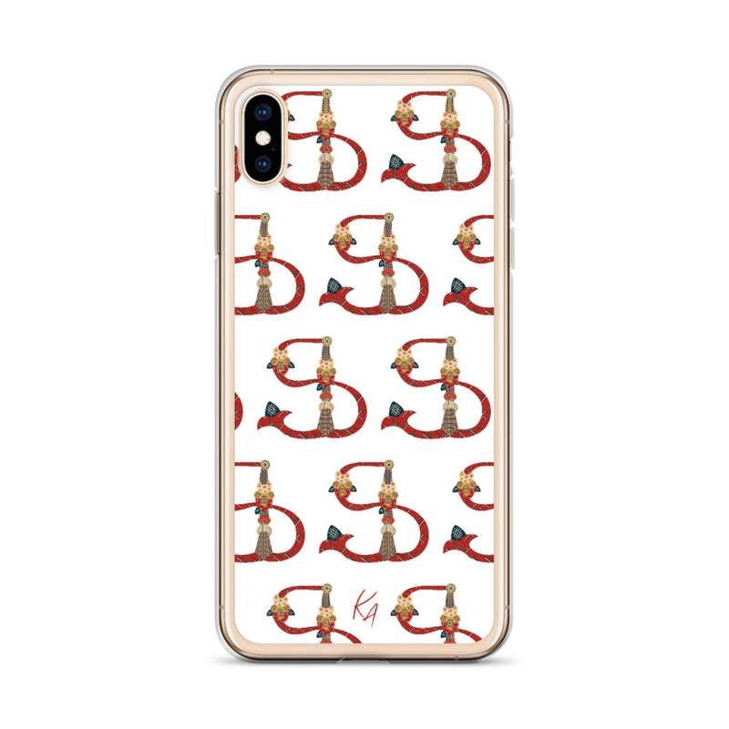 'F' - Armenian Letter Art - iPhone Case