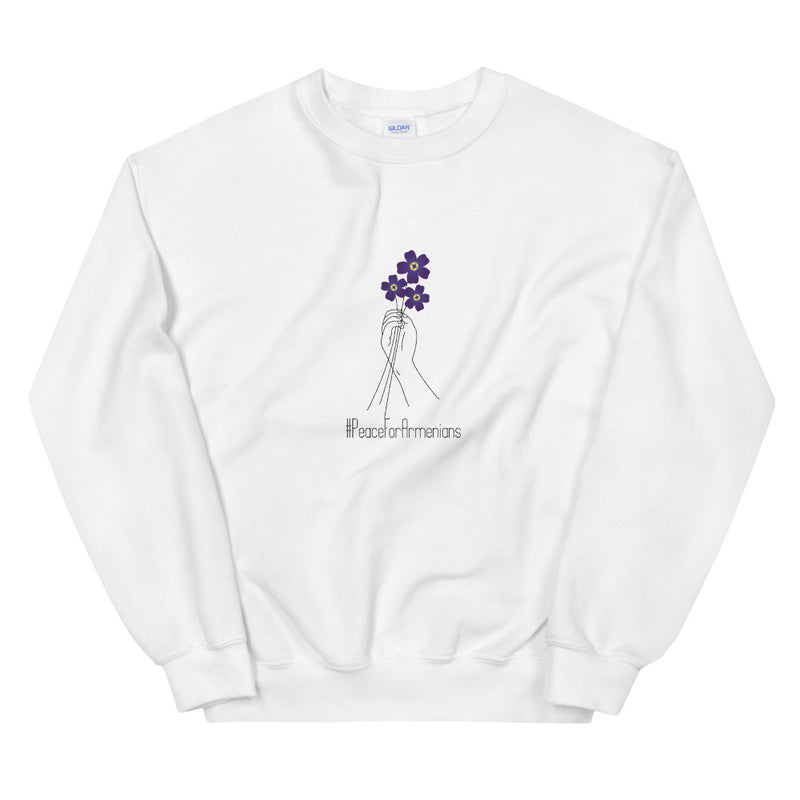 #PeaceForArmenians (Forget-me-not/Anmoruk) - White Sweater