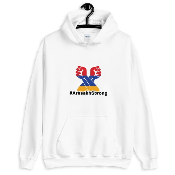 #ArtsakhStrong - White Hoodie