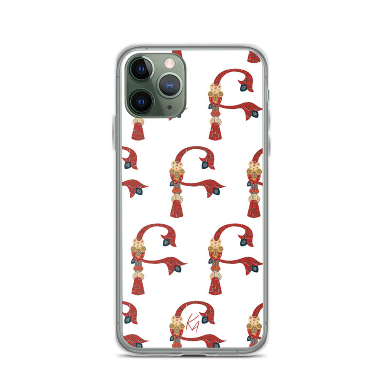 'B' - Armenian Letter Art - iPhone Case