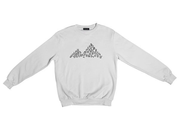 Ararat Alphabet - White Sweater
