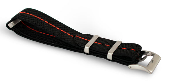 Black/Red Elastic Nato Strap