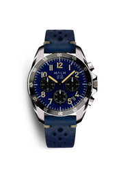 DALTON Blue Black Panda Chronograph 41 - MALM watches