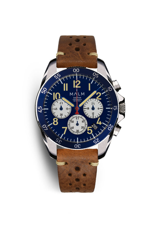 DALTON Blue White Panda Chronograph 41 - MALM watches