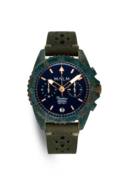 Catalina Blue Bronze Wreck Chronograph 41