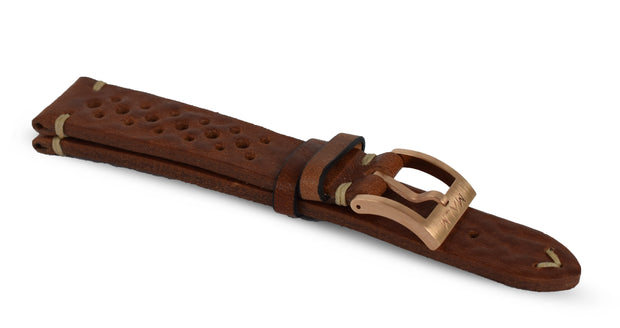 Brown Pilot Race Strap - MALM watches