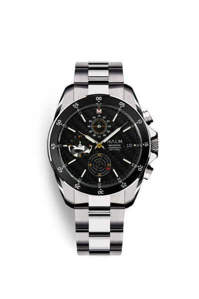 Whitefox Black Silver Chronograph 41