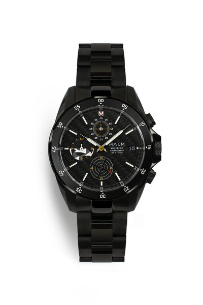 WHITEFOX Black DLC Chronograph 41 - MALM watches