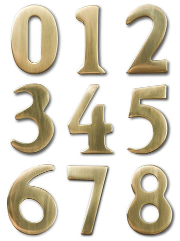 "2"" Address Numbers (Brass, Self-Adhesive)"