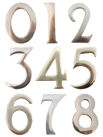 "3"" Address Numbers (Brass, Self-Adhesive)"