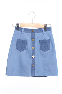 Siaomimi Buttondown Skirt - CrossBorderWear