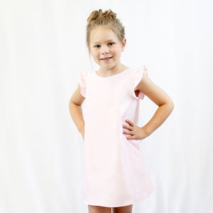 Light Pink Flutter Dress - CrossBorderWear