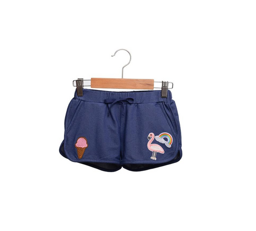 Siaomimi Denim Gym Shorts - CrossBorderWear