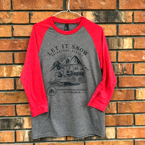 Snow Flyer Baseball Tee