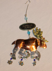 Large Moose Metal Ornament