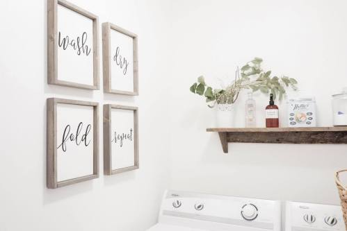 Budget Friendly Laundry Room | Loving Littles Blog Feature