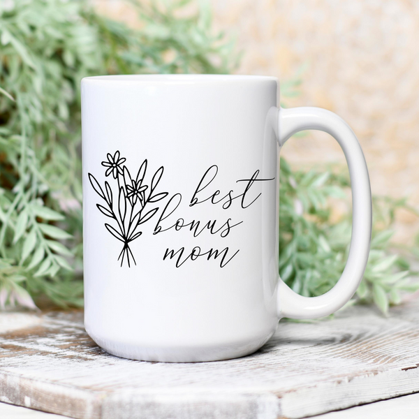 Best Bonus Mom Mug | 15 oz Mug