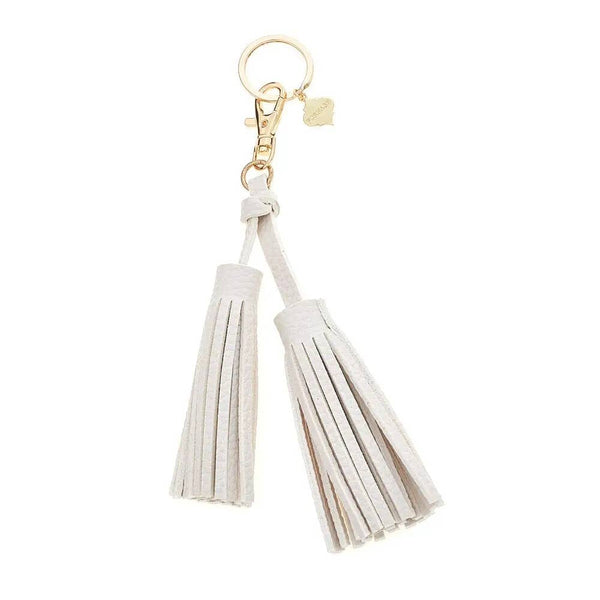Large Faux Leather Double Tassel | Keychain