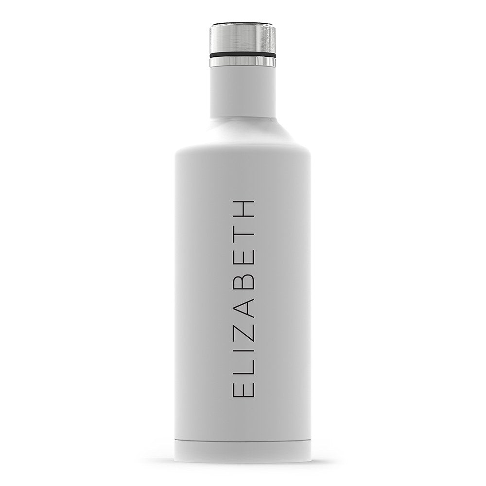 Personalized White Matte Water Bottle