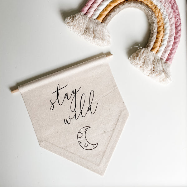 Stay Wild Canvas Flag | Canvas Banner