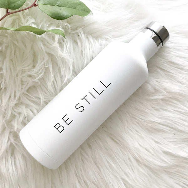 Be Still | White Water Bottle