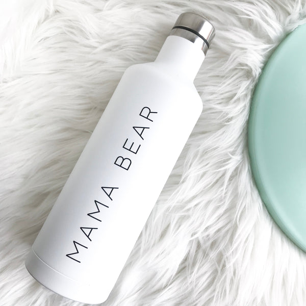 Mama Bear | White Water Bottle