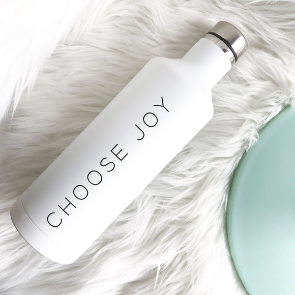 Choose Joy | White Water Bottle