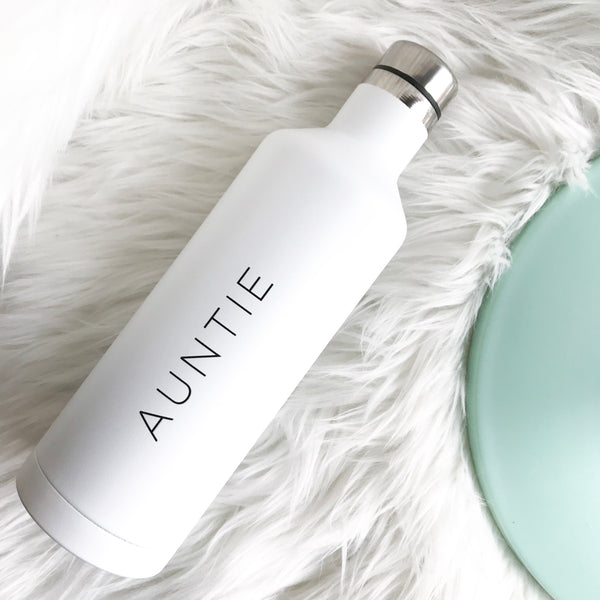 Auntie | White Water Bottle