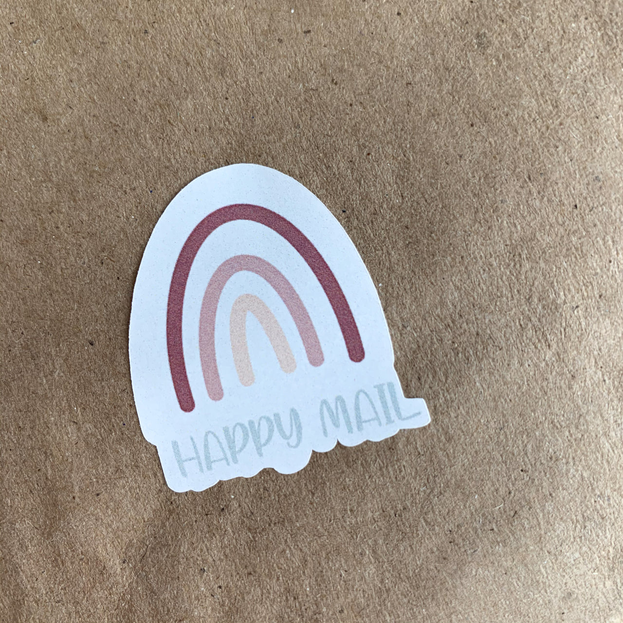 Happy Mail Rainbow Stickers | White Labels