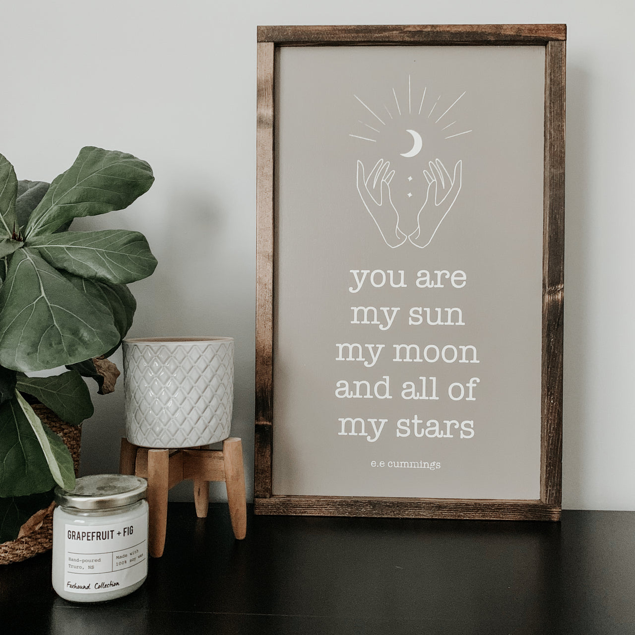 You Are My Sun, My Moon and All of My Stars | Framed Sign