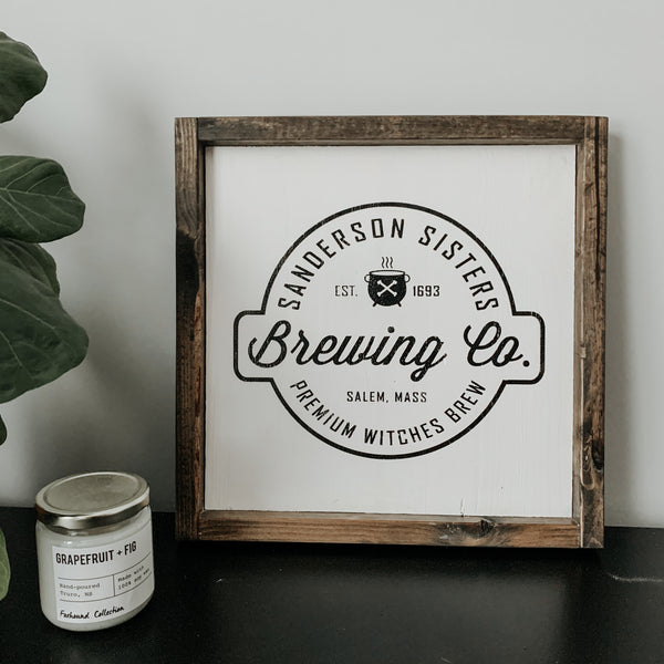 Sanderson Sisters Brewing Co | Framed Sign