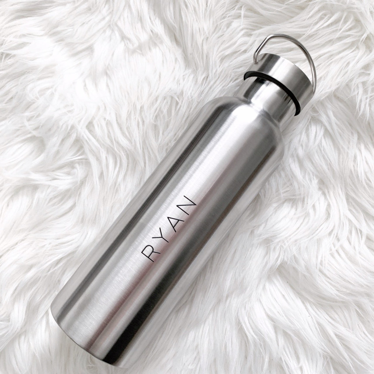 Personalized Chrome Stainless Steel Water Bottle