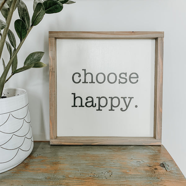 OOAK Thursday #1 | Choose Happy Wood Sign