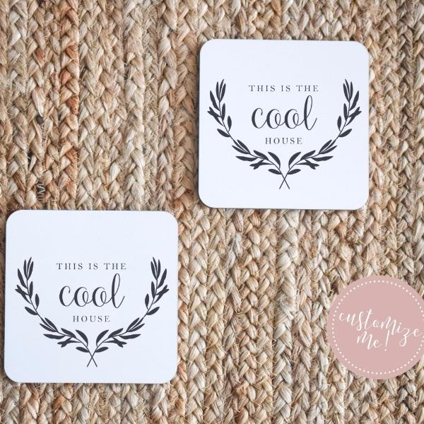 This Is the Cool House Coaster Set