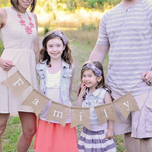Family Burlap Banner, Family Banner, Burlap Banner, Family Photo Prop, Family Portrait Decor, Family Portraits, Family Photos, Mothers Day