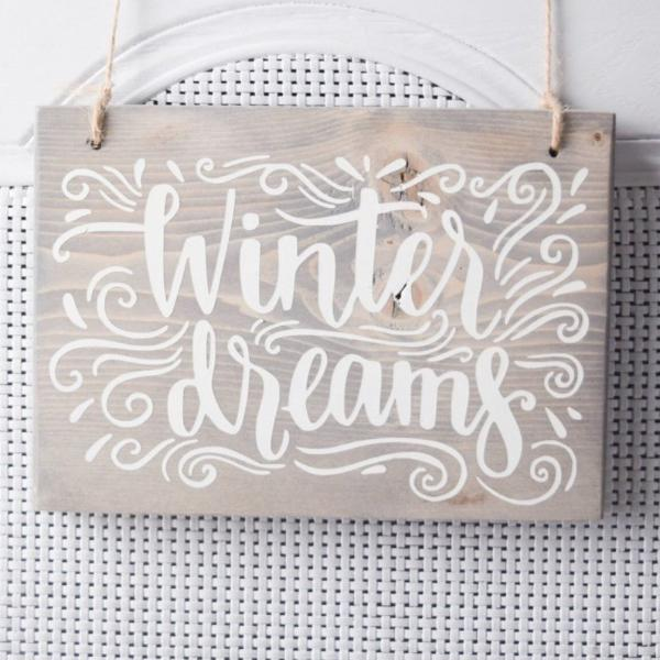 Winter Dreams, White Christmas, White Christmas Decor, Holiday Decor, Christmas Decor, Winter Decor, Snow Decor, Holiday Wall Art