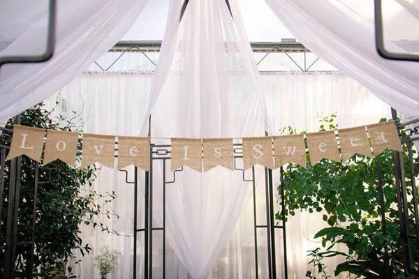 Love Is Sweet Banner, Cake Table Decor, Cake Table Banner, Dessert Table Decor, Wedding Banner, Rustic Wedding, Wedding Bunting, Sweet Love
